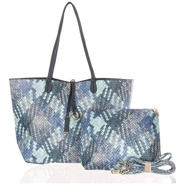 Fashion Icon Dámská kabelka Simple Style 2v1 přes rameno modrá