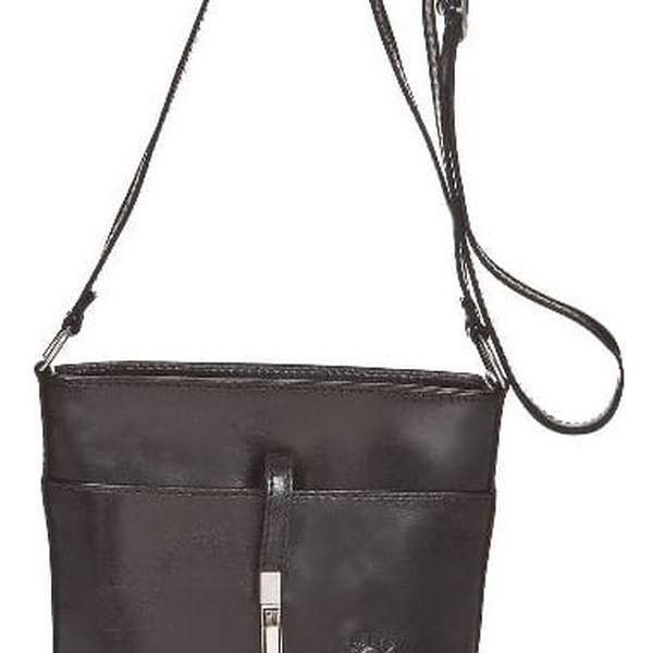 Černá kožená kabelka Markese Severina