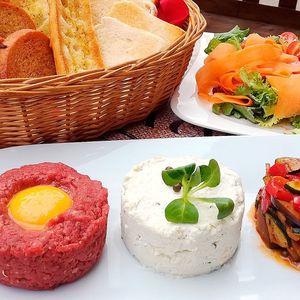 Tatarákové trio: hovězí, sýrový a zeleninový