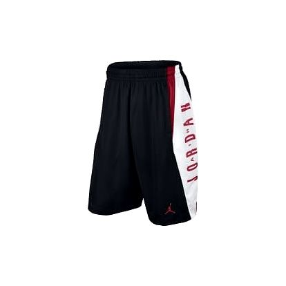 Pánské kraťasy Jordan TAKEOVER SHORT M BLACK/GYM RED/WHITE/GYM RED