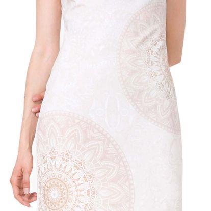 Desigual smetanové šaty Pichi Crudos - XXL