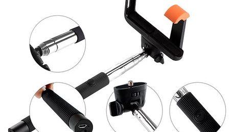 Selfie tyč GoGEN 2 teleskopická, bluetooth (GOGBTSELFIE2B) černá