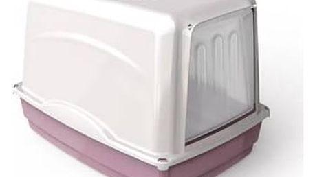 Toaleta Argi krytá s filtrem - 54 x 39 x 39 cm růžová