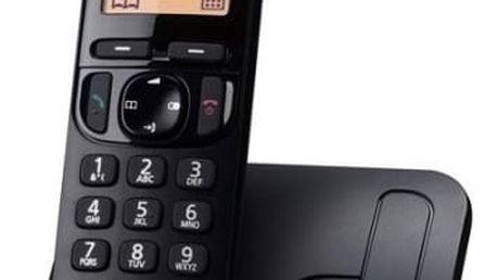 Domácí telefon Panasonic KX-TGC210FXB (KX-TGC210FXB) černý