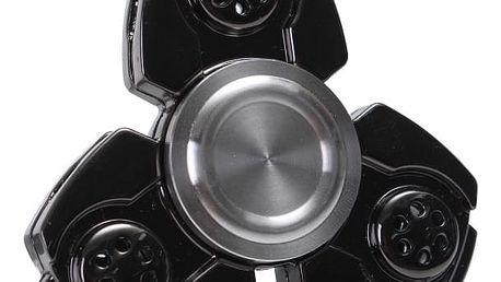 Stylový fidget spinner v černé barvě - proti stresu