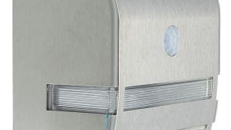 Nástěnné světlo na solární energii s pohybovým senzorem - stříbrná a černá barva