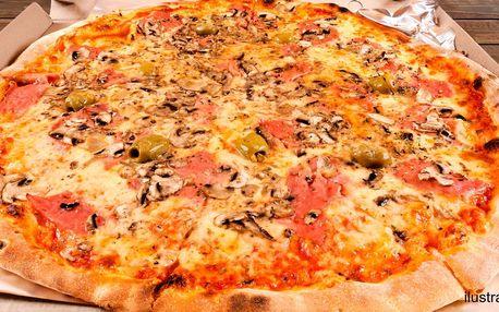 2 čerstvě upečené pizzy přímo k vám domů