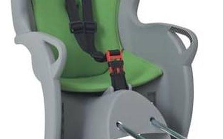 Cyklosedačka Hamax KISS šedá/zelená + Reflexní sada 2 SportTeam (pásek, přívěsek, samolepky) - zelené v hodnotě 58 Kč