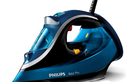 Žehlička Philips Azur Pro GC4881/20 modrá + dárek