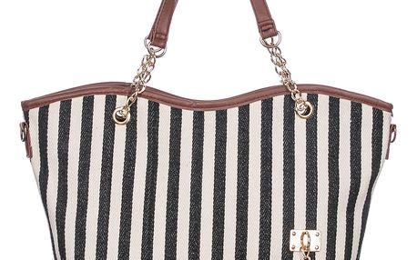 Fasion Icon Dámská taška shopper pruhovaná mořský motiv