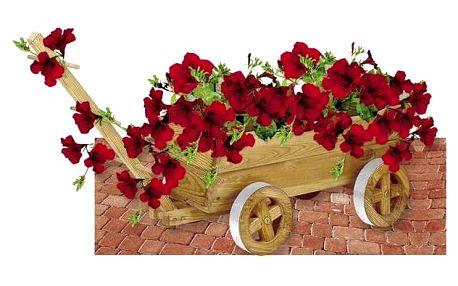 Květináč Rojaplast VOZÍK
