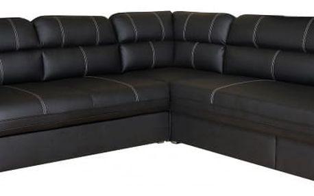 Rohová sedačka rozkládací Cordoba pravý roh (C2316/bílá)