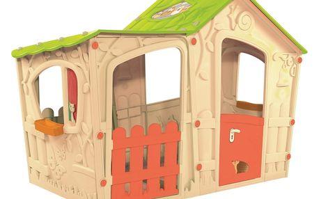 Rojaplast Domek MAGIC VILLA - béžová + zelená - 11640121
