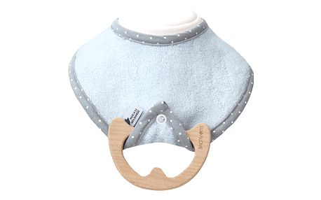 LULLALOVE SupeRRO Baby Eco – bryndák a kousátko 2v1, modrá