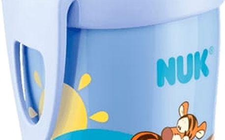 NUK First Choice Láhev PP Active Cup Medvídek Pú, 300 ml, silikonové pítko (12m+) - modrá