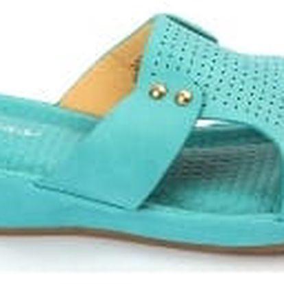 Dámské pantofle BLESS s ANTISHOKOVOU stélkou modré