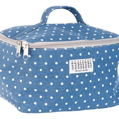Modrá kosmetická taška Clayre&Eef Carré