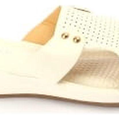 Dámské pantofle BLESS s ANTISHOKOVOU stélkou bílé