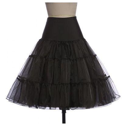 Dámská sukně v rockabilly stylu - černá, velikost 2 - dodání do 2 dnů