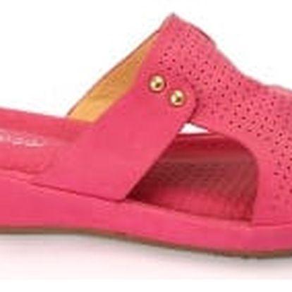 Dámské pantofle BLESS s ANTISHOKOVOU stélkou růžové