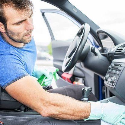 Deluxe čištění interiéru i plastů auta + tepování