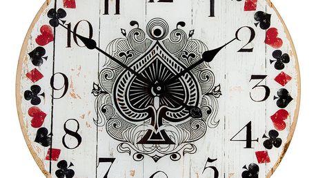 Nástěnné hodiny Clayre&Eef Cards