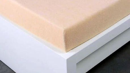 XPOSE ® Froté prostěradlo Exclusive dvoulůžko - bílá káva 160x200 cm
