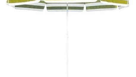 Slunečník Happy Green 230 cm bílý/žlutý