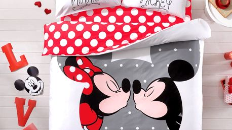 Povlečení s prostěradlem TAC Mickey&Minnie, 200x220 cm - doprava zdarma!