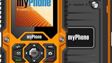 myPhone HAMMER, oranžová/černá - GSMFN2201