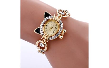 Náramkové hodinky s kočičím motivem