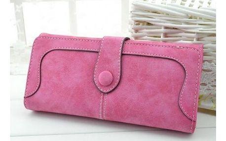 Dámská peněženka se semišovým efektem - 9 barev