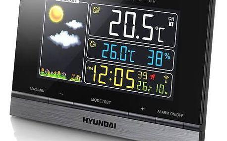 Meteorologická stanice Hyundai WS 2303 černá + Doprava zdarma