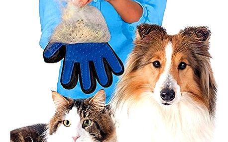 Masážní rukavice pro vyčesávaní srsti psů a koček, perfektně rozčesáte Vašeho čtyřnohého miláčka.