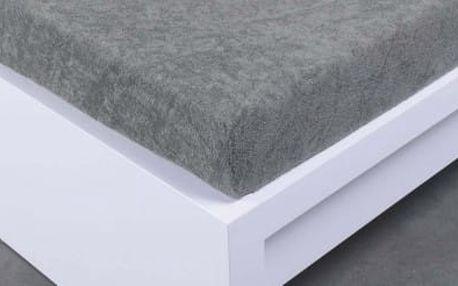 XPOSE ® Froté prostěradlo Exclusive dvoulůžko - tmavě šedá 200x220 cm