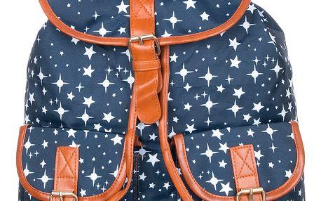 Batoh Hvězdy textilní A4 Backpack ekokůže