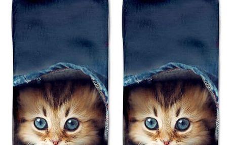 Dámské ponožky s motivy kočiček - dodání do 2 dnů