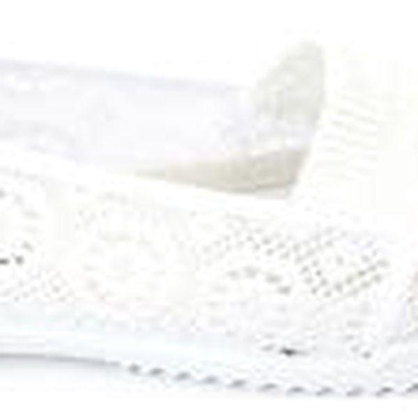 Moderní dámské pletené balerínky bílé
