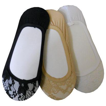 Dámské bambusové nebo krajkové ponožky do balerínek