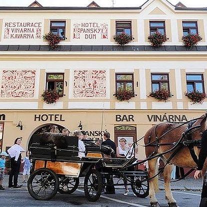 3–6denní pobyt pro 2 se snídaní a slevami v luxusním hotelu Panský dům**** na Vysočině