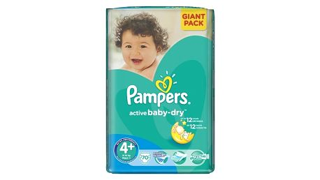 Plenky Pampers Active Baby-dry vel. 4+ Maxi+, 70ks