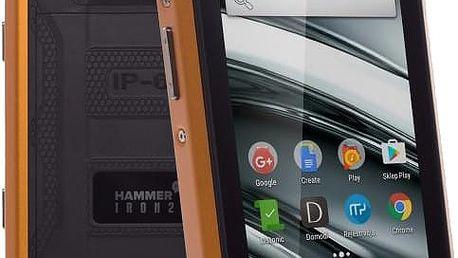 myPhone HAMMER IRON 2, černá/oranžová - TELMYAHIRON2OR