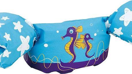 SEVYLOR Plovací top PLAVÁČEK (nosnost 15-30 kg), světle modrý - mořský koník