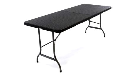 Skládací zahradní stůl - černý 180 x 75 cm