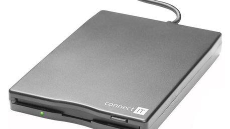 CONNECT IT FDD 1.44MB externí USB black (černá) - CI-130