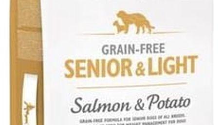 Granule Brit Care Grain-free Senior&Light Salmon & Potato 12 kg Granule Brit Care Grain-free Senior & Light Salmon & Potato 3 kg (zdarma) + Antiparazitní obojek za zvýhodněnou cenu + Doprava zdarma
