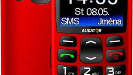 Aligator A670, červená + nabíjecí stojánek - A670R
