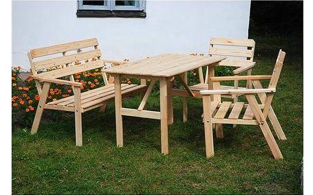 Zahradní nábytek Rojaplast Nordic dřevo Zahradní gril kulatý SportTeam 35cm
