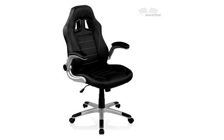 Otočná kancelářská židle GT Series - černá/černá/černá