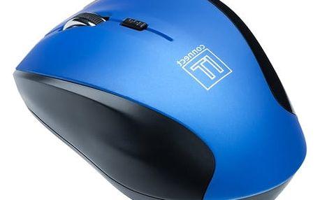 Myš Connect IT CI-155 (CI-155) modrá / optická / 5 tlačítek / 1600dpi